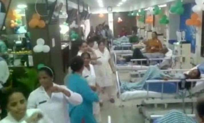 hospital staff perform garba inside dialysis centre in