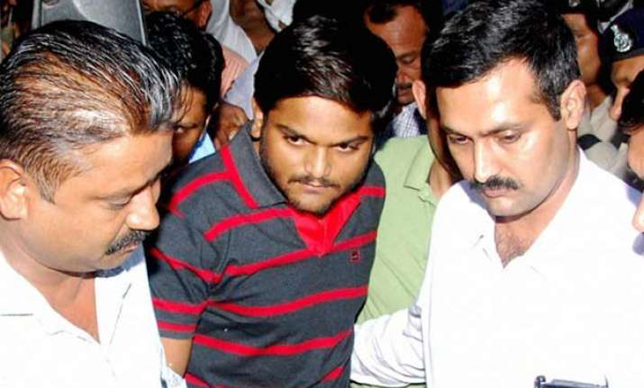 hardik patel s intention was to wage war against gujarat