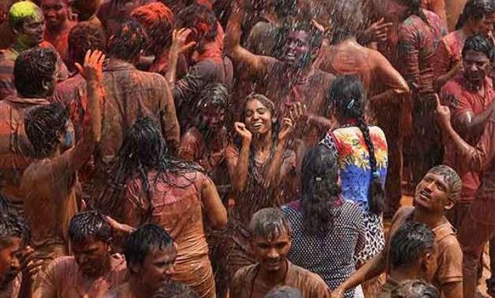 people throng streets to celebrate holi in punjab haryana