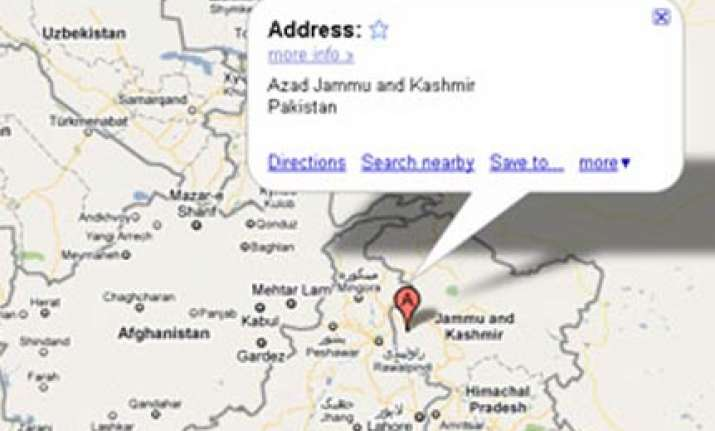 govt notice to google for showing pok as part of pakistan