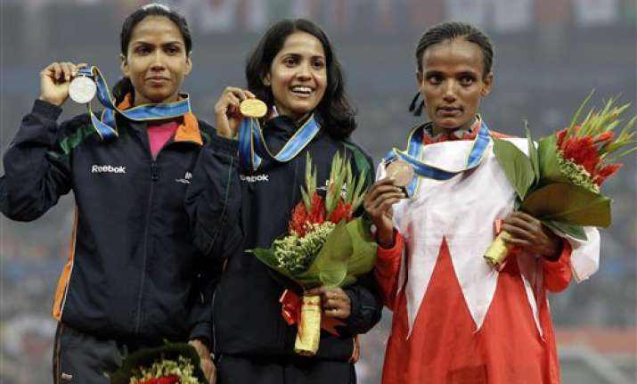 india s sreedharan wins gold in asian games women s 10 000m
