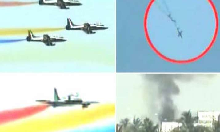 navy s aerobatic plane crashes two pilots dead seven injured