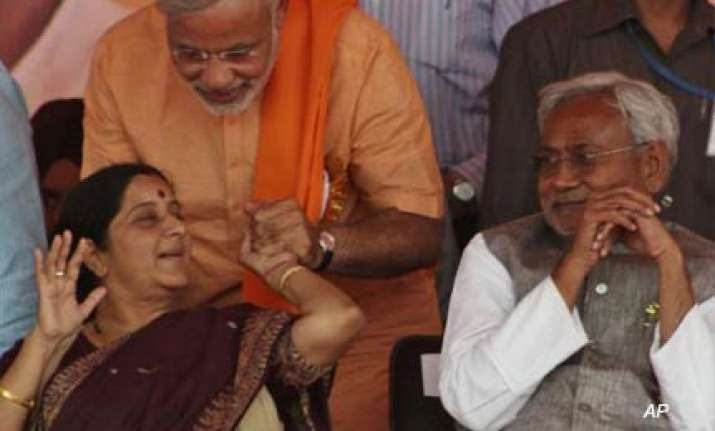 modi s magic need not work every where says sushma