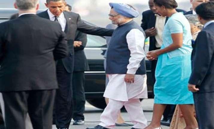 obama arrives in delhi
