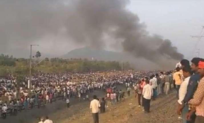 quota stir turns violent kapu s in andhra torch train