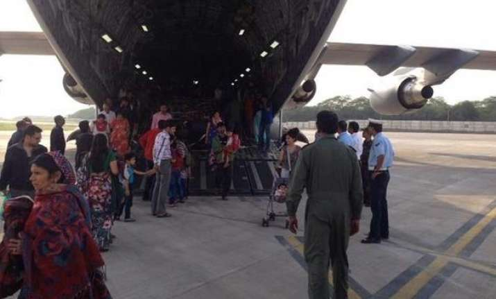iaf planes evacuate 1935 stranded indians from quake hit
