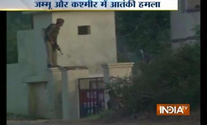 j k militants attack police station in kathua heavy firing