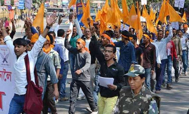 70 bajrang dal supporters arrested during assam bandh