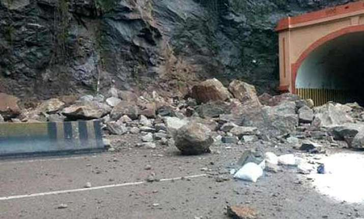 one killed two injured in landslide on mumbai pune