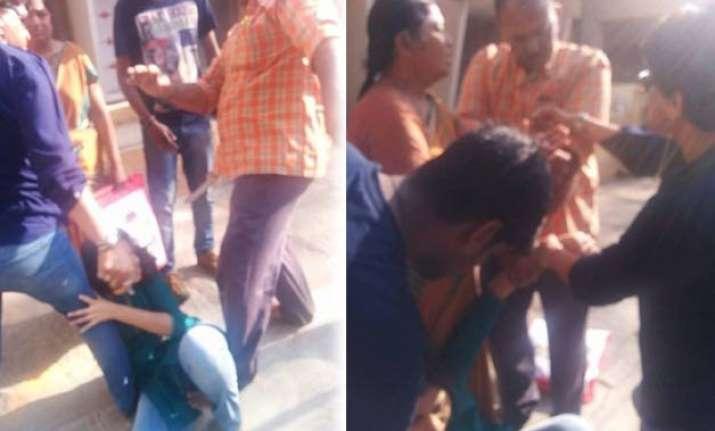 cop filmed mercilessly beating his daughter shamed on
