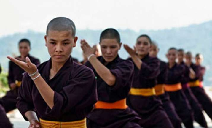 now kung fu nuns to train delhi girls in self defence