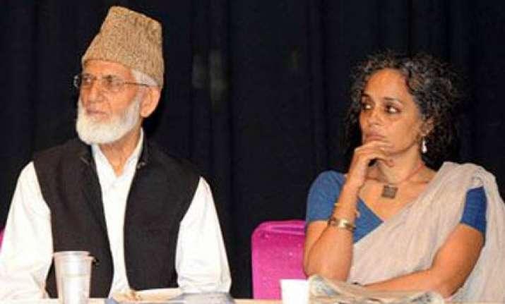 delhi police books arundhati geelani for sedition
