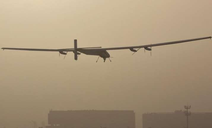 solar impulse 2 takes off from ahmedabad airport heads for
