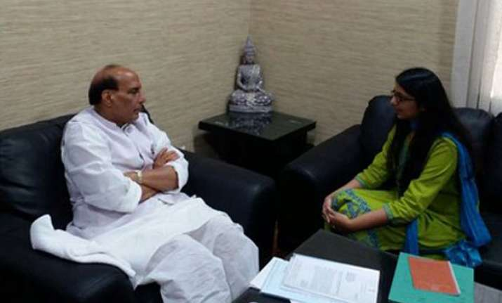 dcw chief swati maliwal meets rajnath singh over women