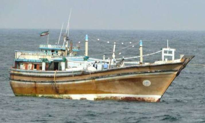 coast guard intercepts suspect iranian fishing boat off