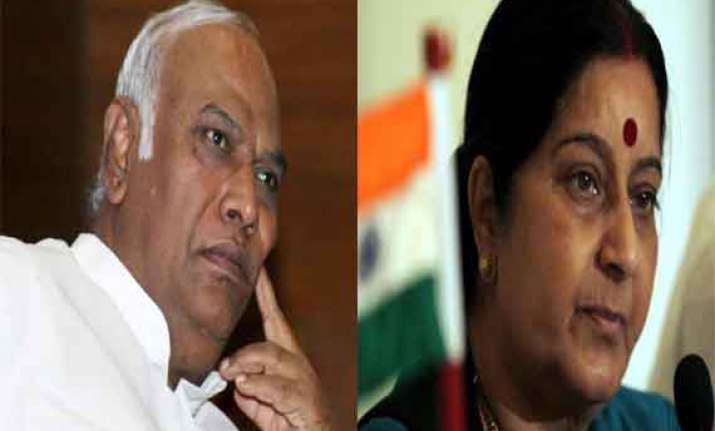 is pm god to give occasional darshan kharge to swaraj