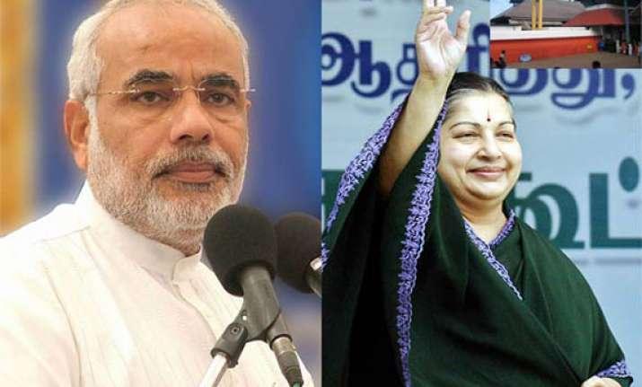 jaya congratulates modi on magnificent victory in ls polls