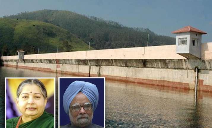 jayalalithaa asks pm to deploy cisf at mullaperiyar dam