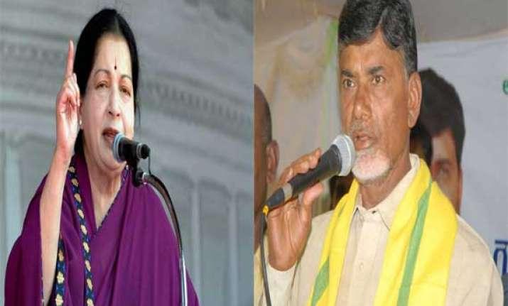 jayalalithaa greets chandrababu naidu on becoming ap cm