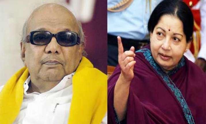 jayalalithaa slams karunanidhi for poser on inter state