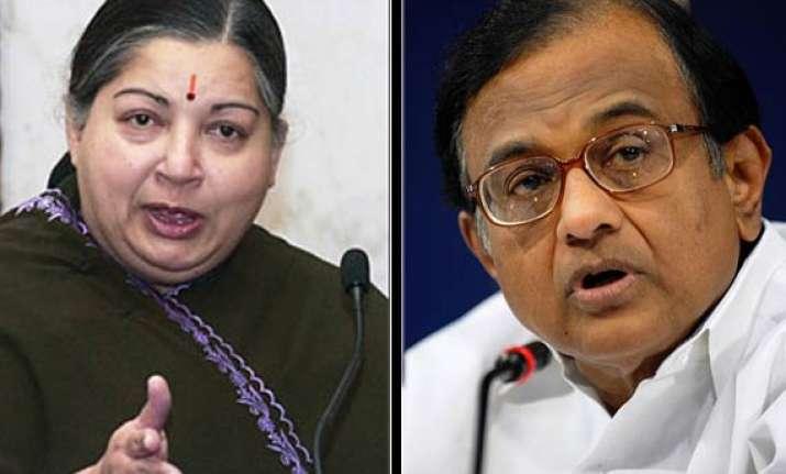jayalalithaa demands chidambaram s resignation