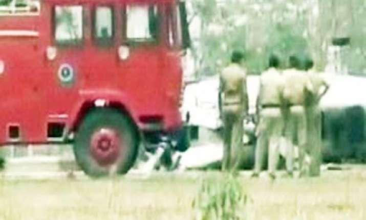 jharkhand dgp survives chopper mishap