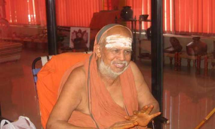 kanchi seer stable after hospitalisation in nellore district