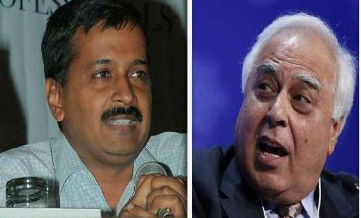 kapil sibal challenges kejriwal to prove corruption charge