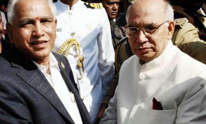 karnataka governor promises action against cm