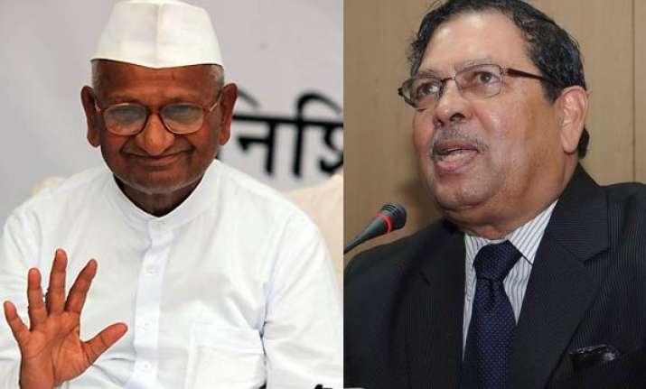 karnataka lokayukta differs on some clauses of jan lokpal