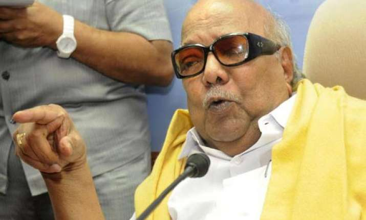 karunanidhi denounces lanka for anti indian anti tamil