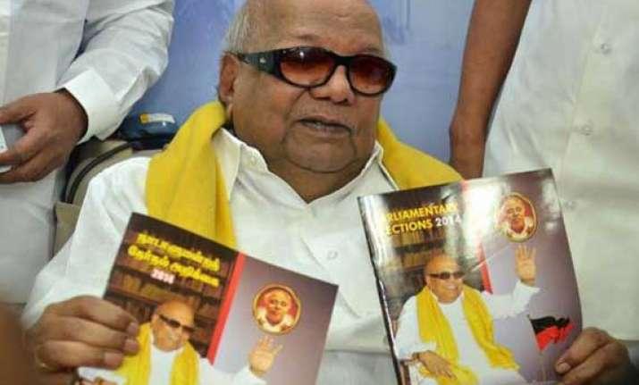 karunanidhi advances campaigning to start on march 26