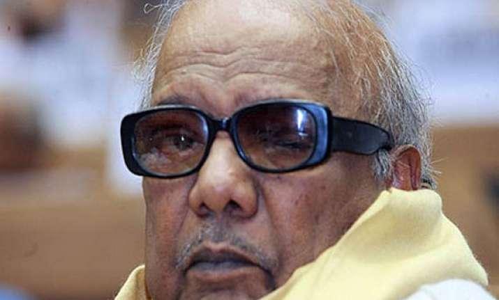 karunanidhi broke down while meeting daughter in tihar jail
