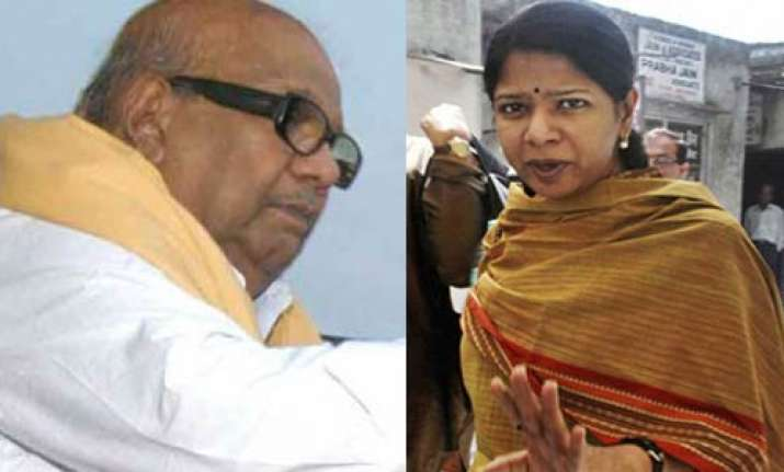 karunanidhi in delhi to meet kanimozhi