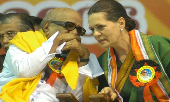 karunanidhi meets sonia