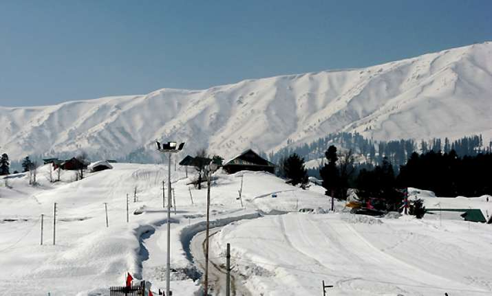 gulmarg shivers at minus 12 kashmir reels under severe cold
