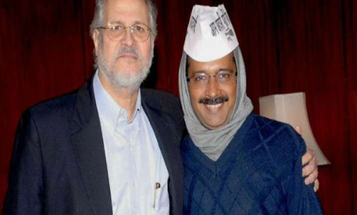 kejriwal meets lt governor aap terms it courtesy call