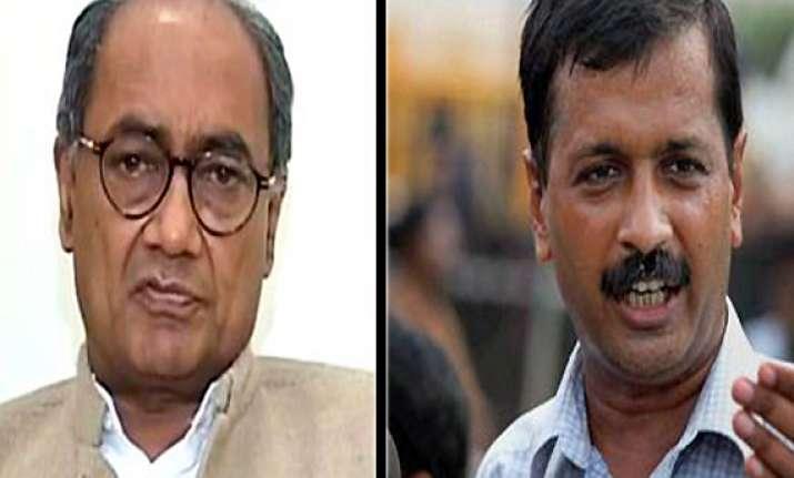 kejriwal politically ambitious person digvijay
