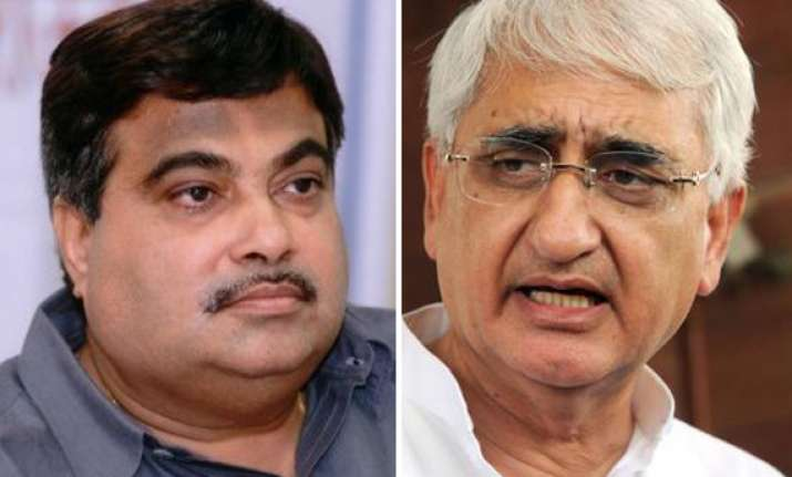 khurshid law minister or lawless minister asks gadkari