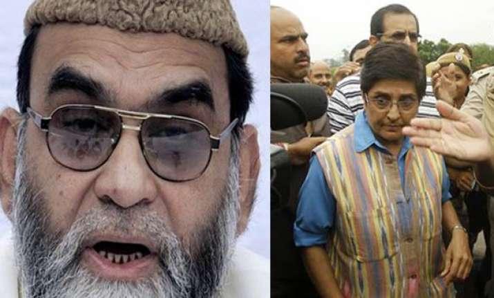 kiran bedi meets shahi imam bukhari calls for communal