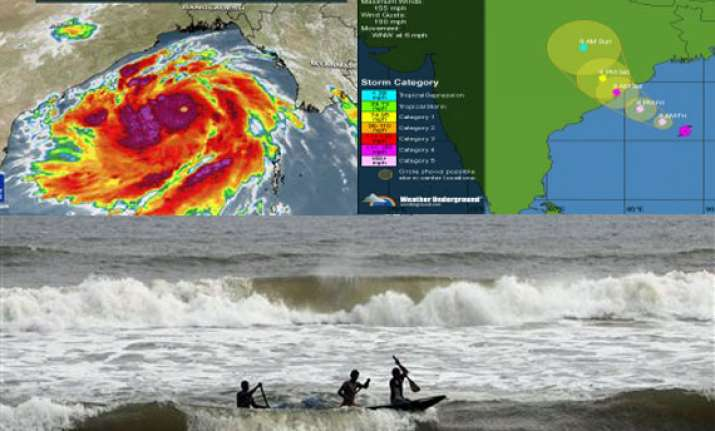 know about super cyclone phailin half the size of india