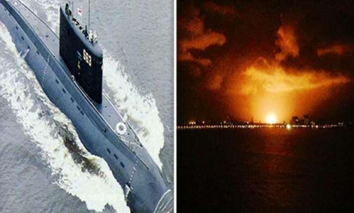 know more about navy submarine ins sindhurakshak gutted in