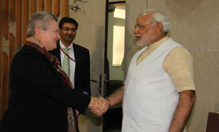 know what nancy powell discussed with modi today