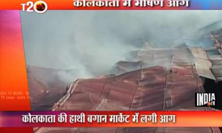 kolkata s oldest hatibagan market gutted in devastating fire