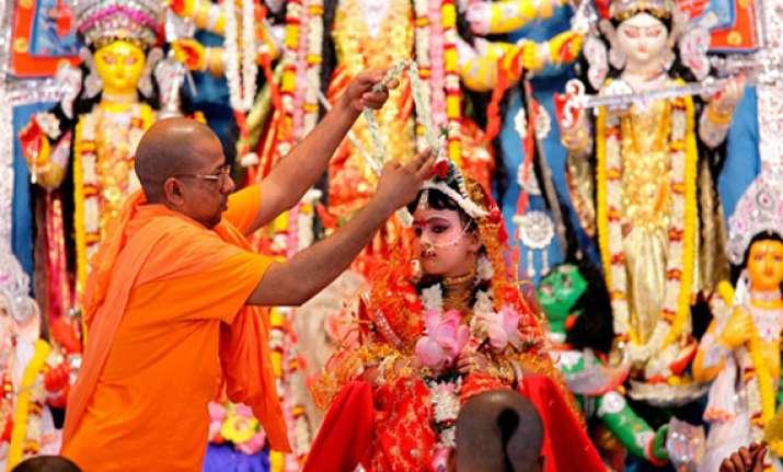 kumari puja marks maha ashtami celebrations in bengal
