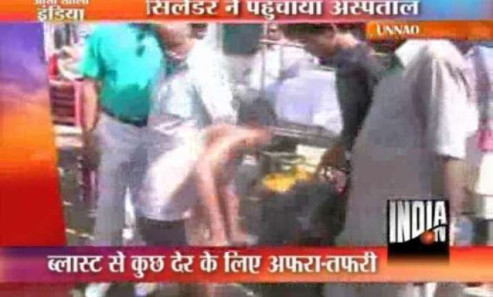 lpg cylinders blast in up one suffers serious burn injuries