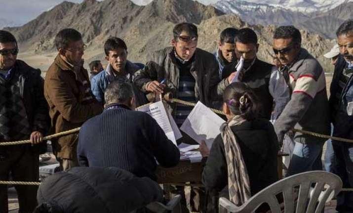 ladakh records 63 percent polling