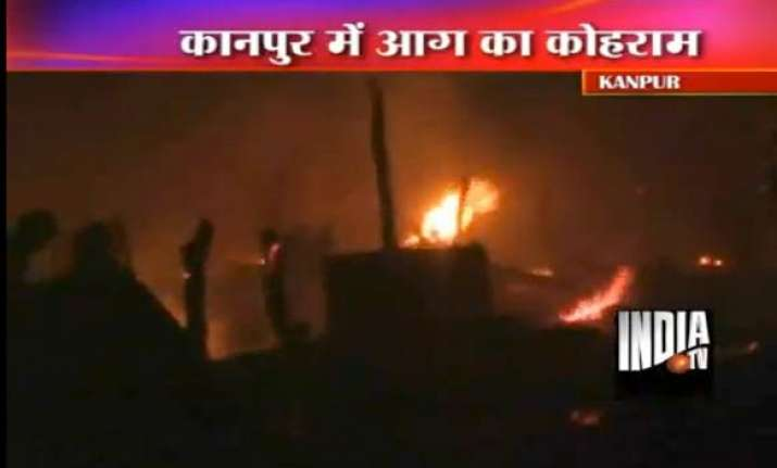 lakhs worth goods 43 houses gutted in kanpur fire