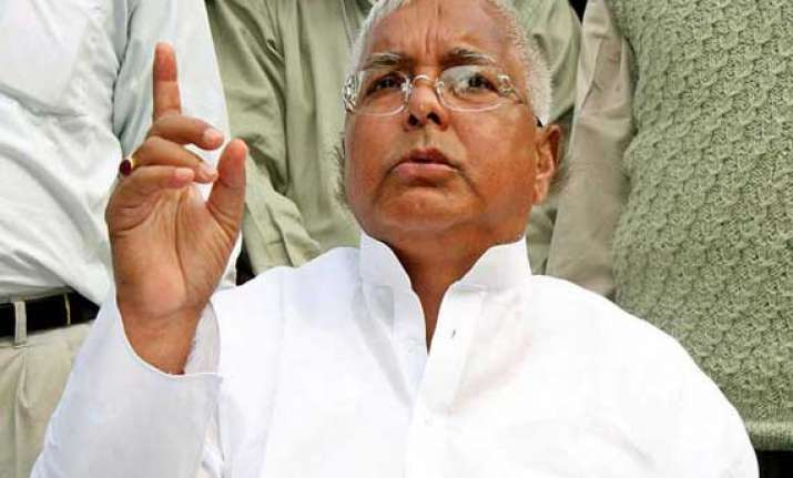 lalu blames railways for rajdhani express accident