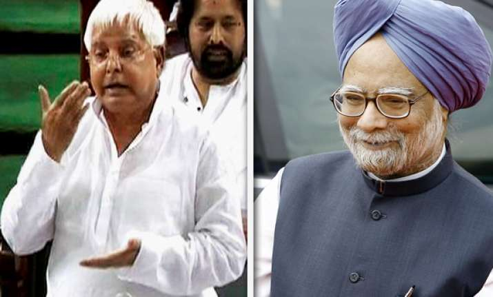 lalu asks manmohan singh to become lokpal